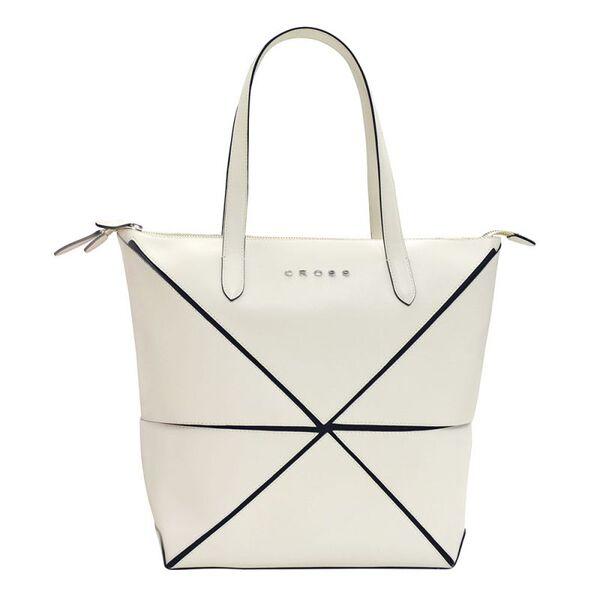 Дамска чанта Cross Origami Collapsible, голям размер, слонова кост