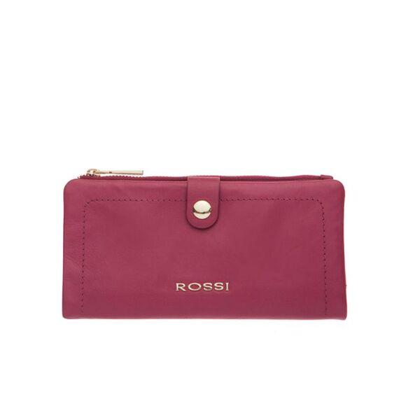 Дамски портфейл ROSSI, цвят малина