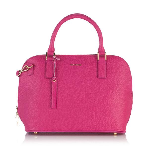 Елегантна дамска чанта ROSSI, цвят малина