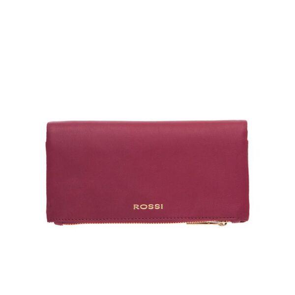 Дамско портмоне ROSSI, цвят малина