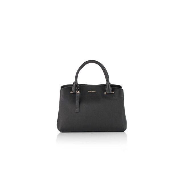 Класическа дамска чанта ROSSI, черна