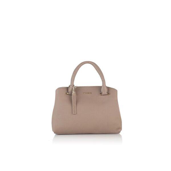 Класическа дамска чанта ROSSI, бежова