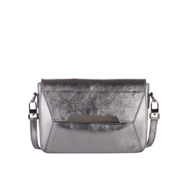 Малка дамска чанта Pierre Cardin Dollaro, сребрист цвят
