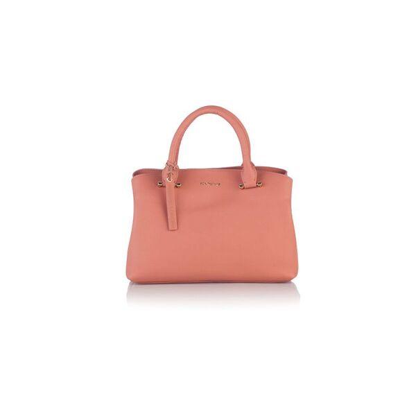 Класическа дамска чанта ROSSI, цвят бледо розово