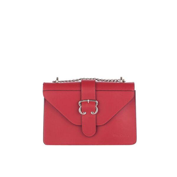 Малка дамска чанта Pierre Cardin Lurex, червена