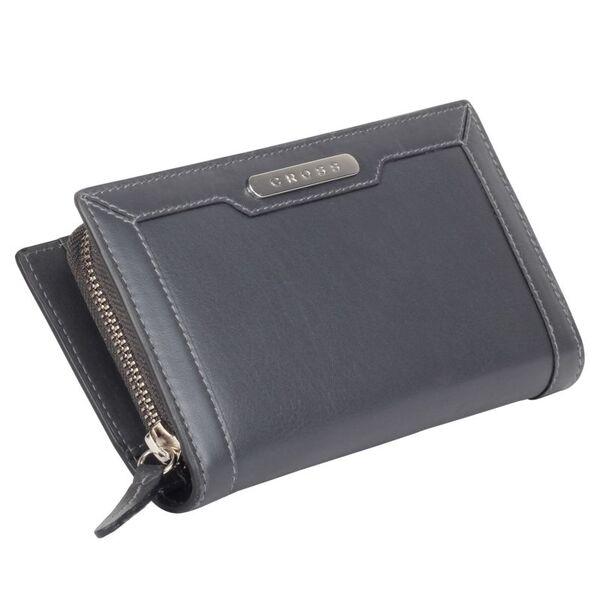 Дамски портфейл (вечерен клъч) Cross с 11 отделения за кредитни карти, сив