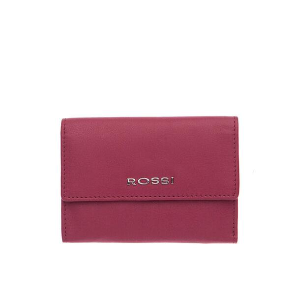 Малко дамско портмоне ROSSI, цвят малина