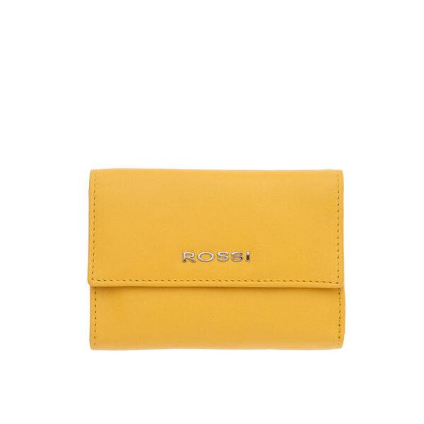 Малко дамско портмоне ROSSI, жълто