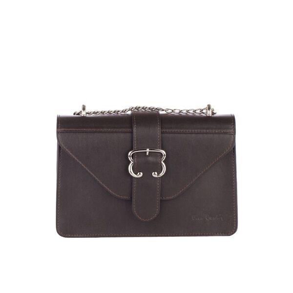 Малка дамска чанта Pierre Cardin Lurex, кафява