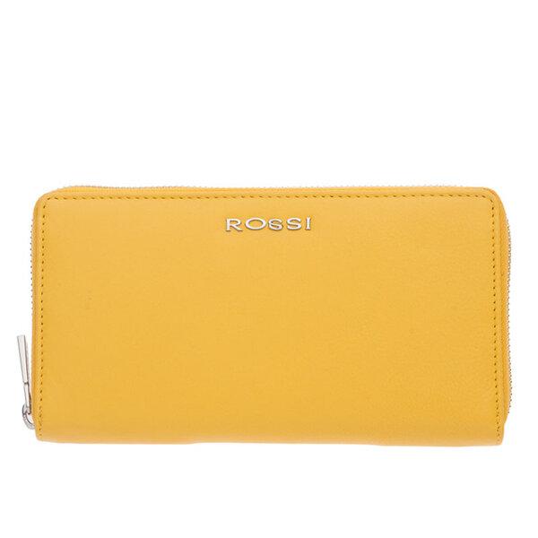 Дамско портмоне ROSSI, жълто, с цип