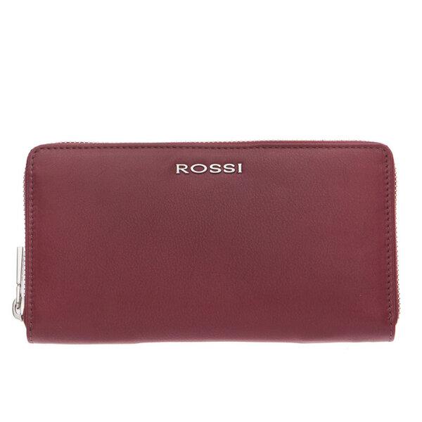 Дамско портмоне ROSSI, с цип, цвят виненочервено