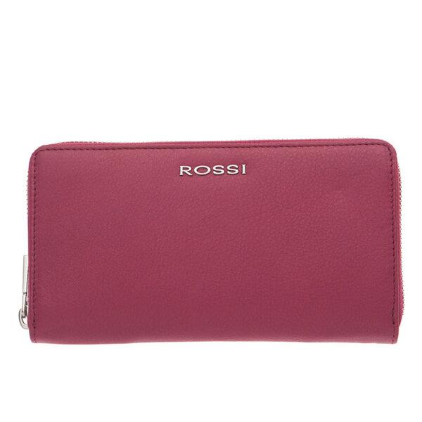 Дамско портмоне ROSSI, с цип, цвят малина