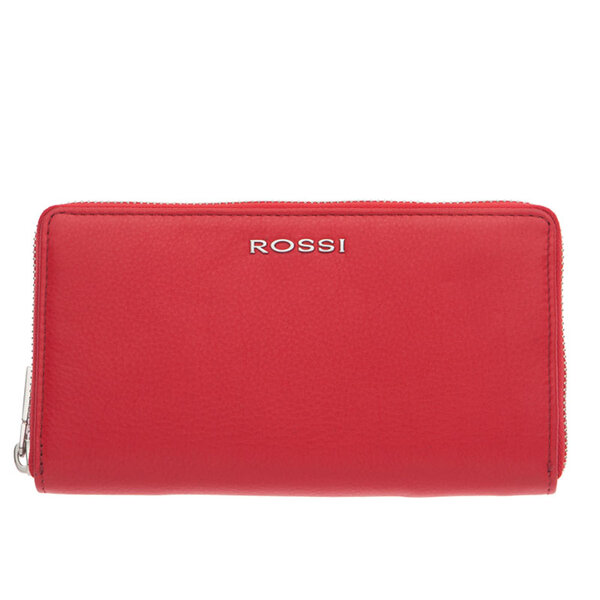 Дамско портмоне ROSSI, с цип, червено