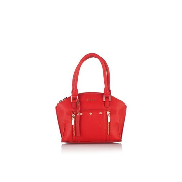 Дамска чанта с ципове ROSSI, червена