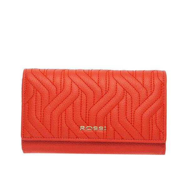 Дамско портмоне ROSSI, оранжево с релеф