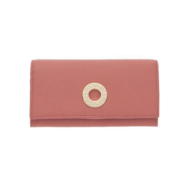 Дамско портмоне ROSSI, цвят наситено розово