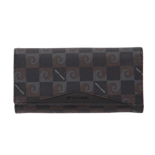 Дамско портмоне Pierre Cardin, черно с щампа