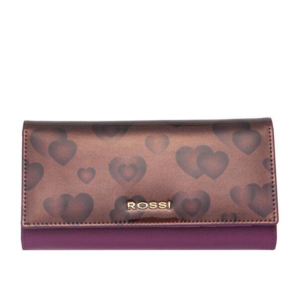 Дамско портмоне ROSSI, лилаво със сърца