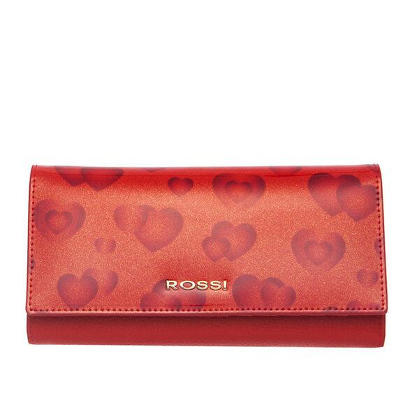 Дамско портмоне ROSSI, червено на сърца
