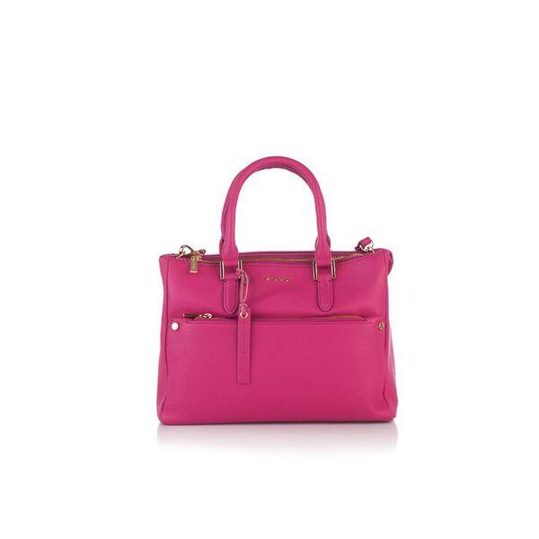 Дамска бизнес чанта ROSSI, цвят малина