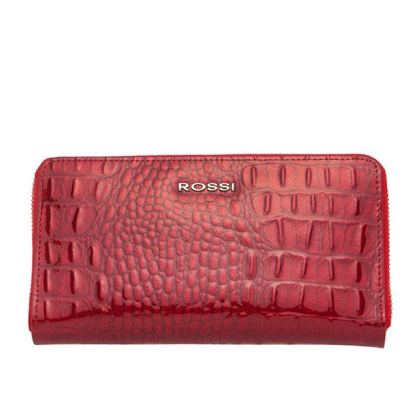 Дамско портмоне ROSSI, червено с релеф