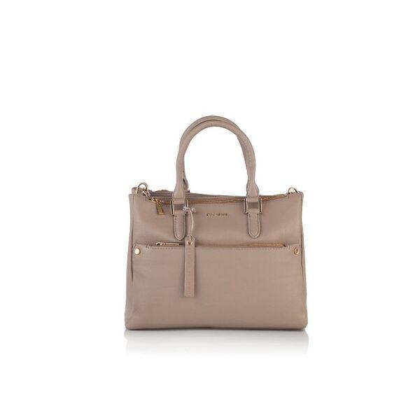 Дамска бизнес чанта ROSSI, бежoвa