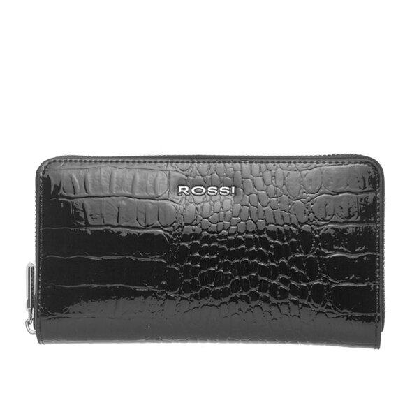 Дамско портмоне ROSSI, черно с релеф