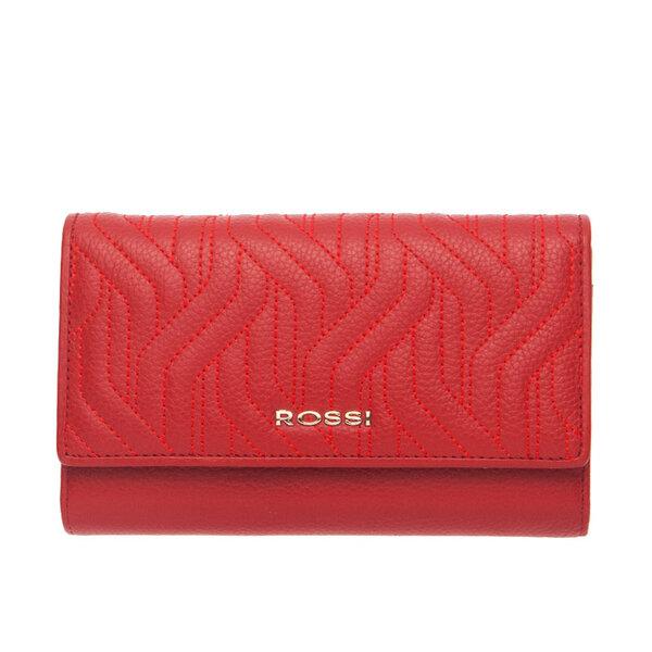 Дамско портмоне ROSSI, червенo с релеф