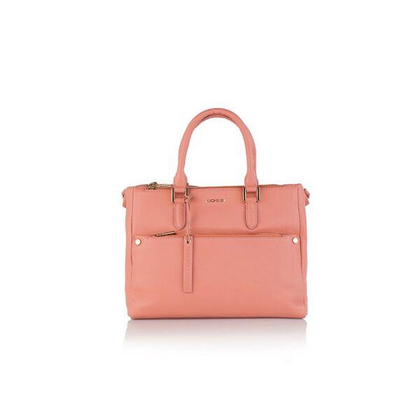 Дамска бизнес чанта ROSSI, розова