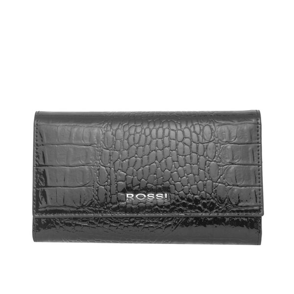 Дамско портмоне ROSSI, черно, с релеф