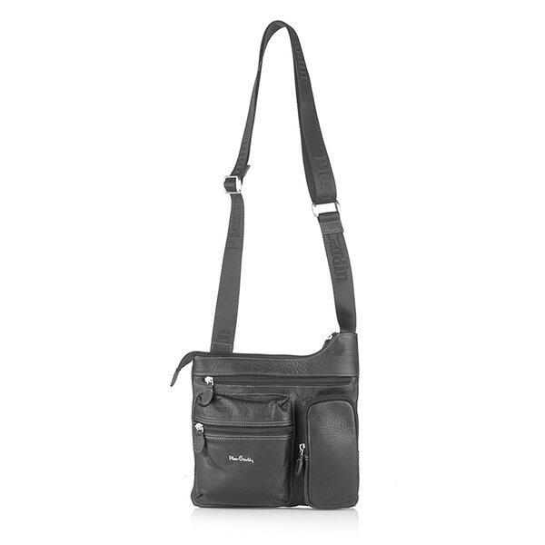 Мъжка чанта Pierre Cardin, естествена кожа, черна