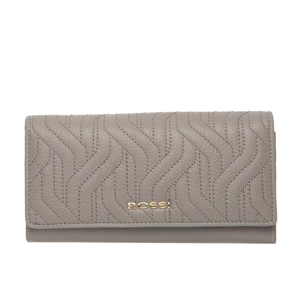 Дамско портмоне ROSSI, цвят сив, с релеф
