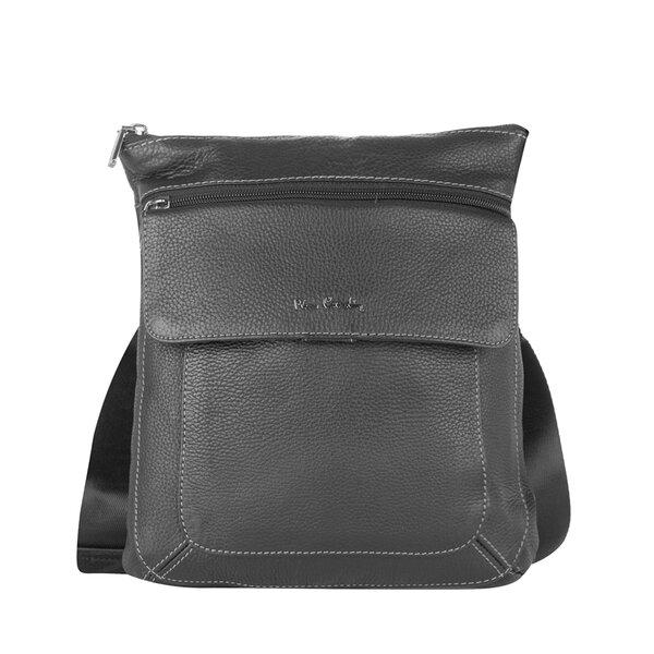 Черна мъжка чанта Pierre Cardin, естествена кожа
