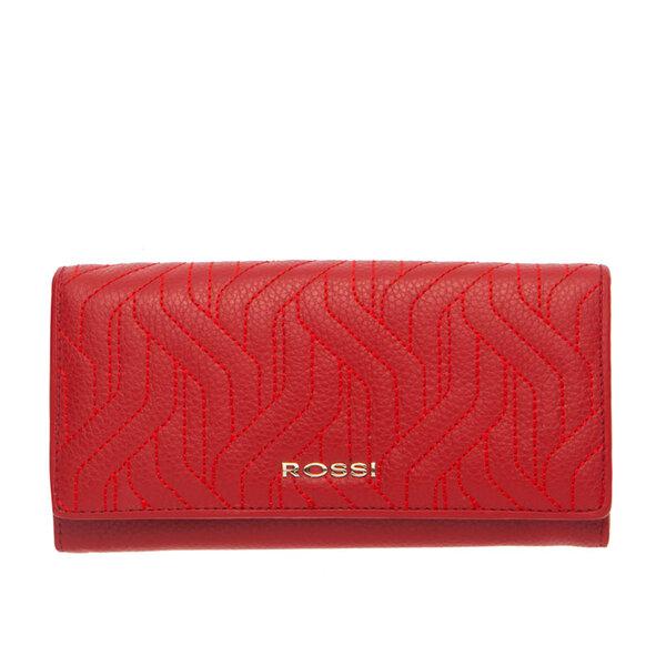 Дамско портмоне ROSSI, червен цвят с релеф