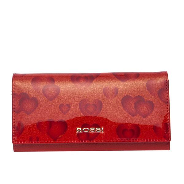 Дамско портмоне ROSSI, червено, със сърца