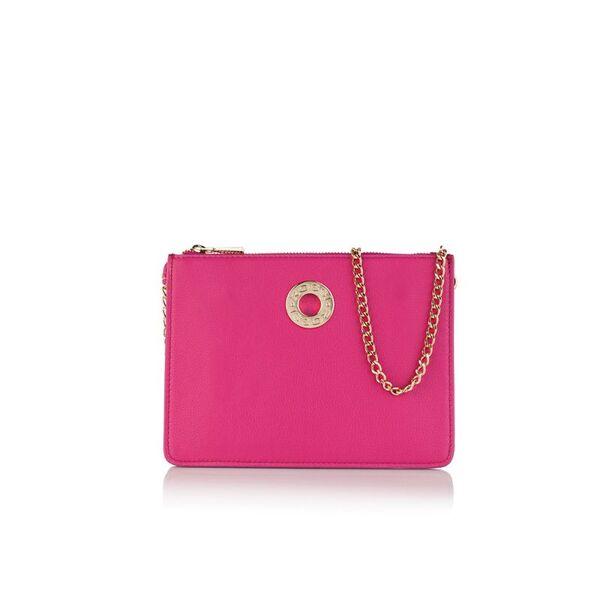 Малка дамска чанта ROSSI, цвят малина
