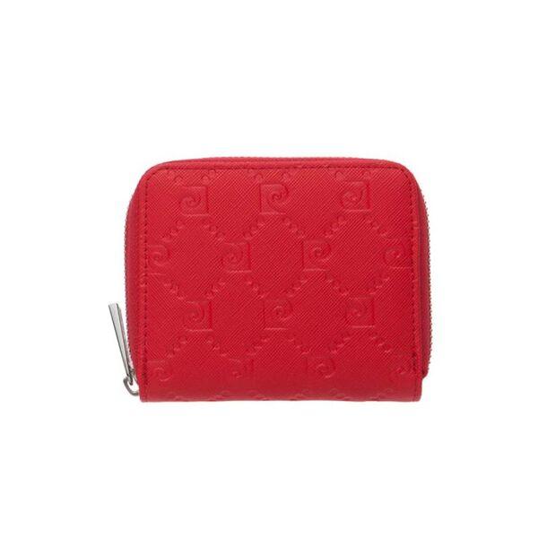Малко дамско портмоне Pierre Cardin, червено със щампа