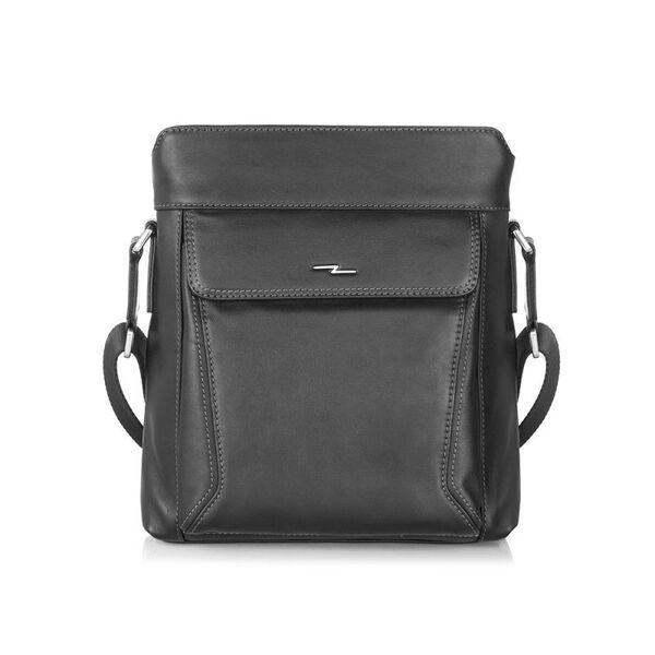 Мъжка чанта SILVER FLAME, черна, среден размер