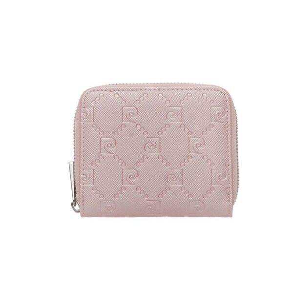 Малко дамско портмоне Pierre Cardin, розово със щампа