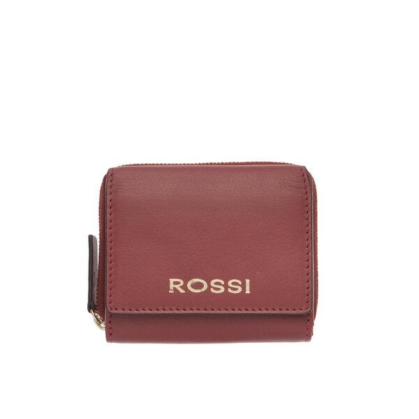 Малко дамско портмоне ROSSI, във винено червено
