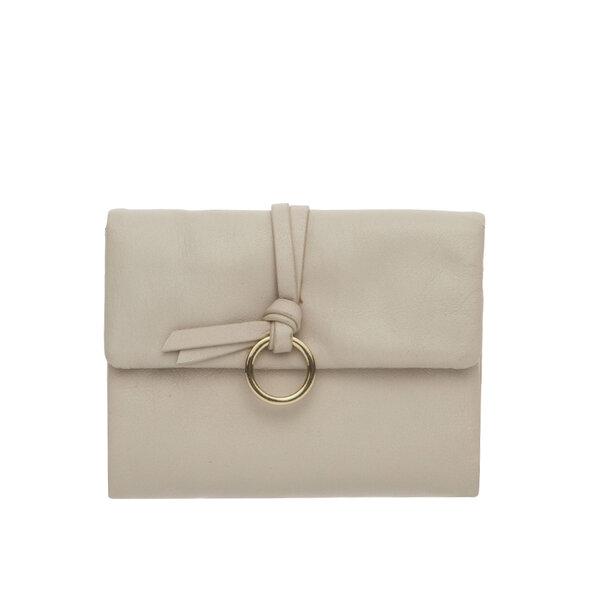 Малко дамско портмоне ROSSI, цвят слонова кост