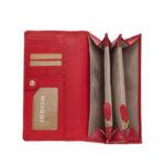 Дамско портмоне ROSSI, наситено червен