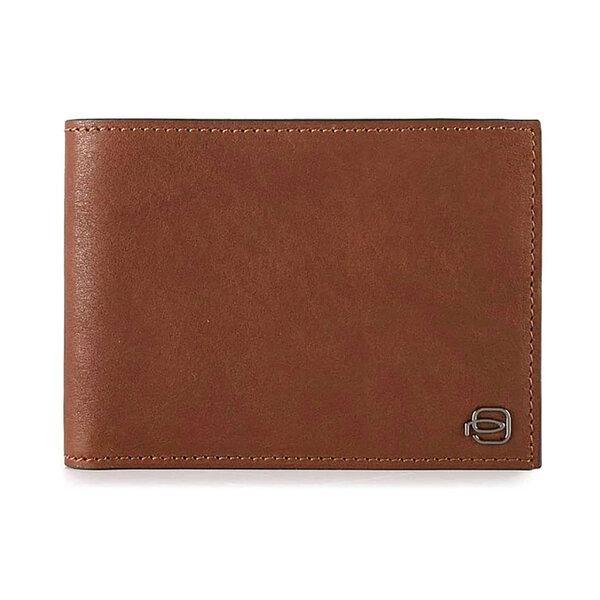 Мъжки портфейл от естествена кожа Piquadro с отделения за карти, монетник и RFID защита, светлокафяв