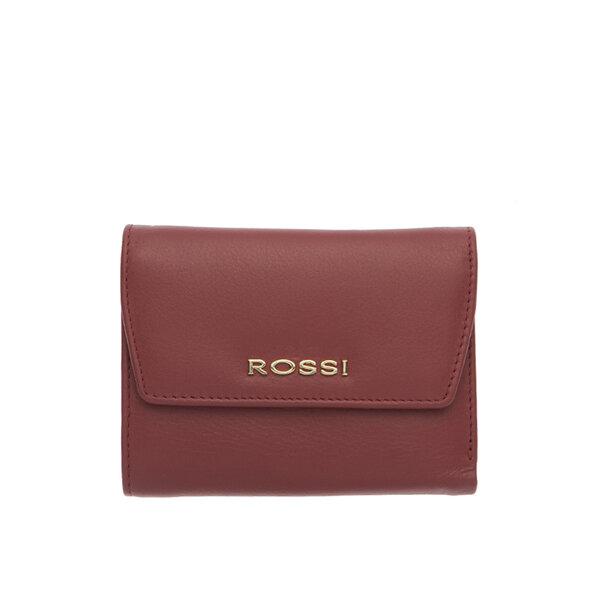 Дамски портфейл ROSSI, цвят винено червен