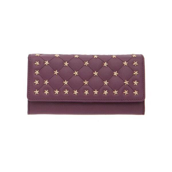 Дамско портмоне ROSSI със златисти орнаменти, цвят боровинка