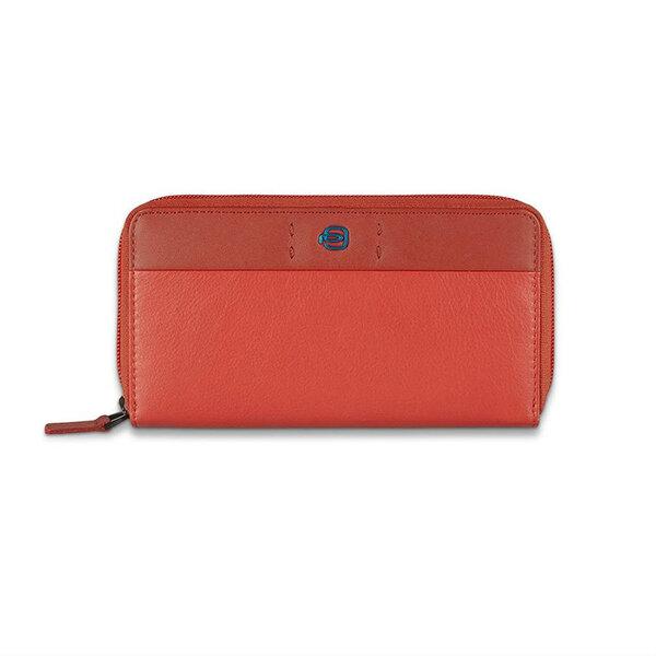 Луксозен дамски портфейл Piquadro, червен