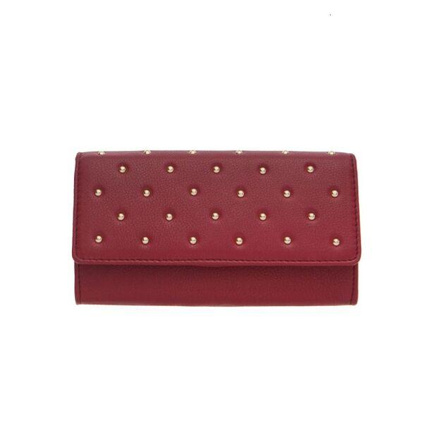 Дамско портмоне ROSSI, цвят винено червено