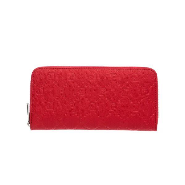 Дамски портфейл Pierre Cardin, червен, с цип и щампа