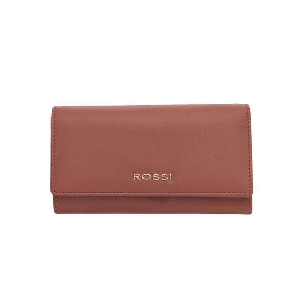 Дамско портмоне ROSSI, цвят пепел от рози