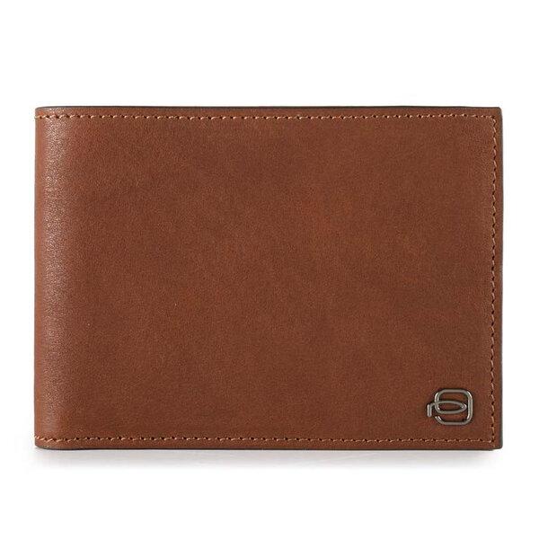 Мъжки портфейл Piquadro с 12 отделения за карти, кафяв
